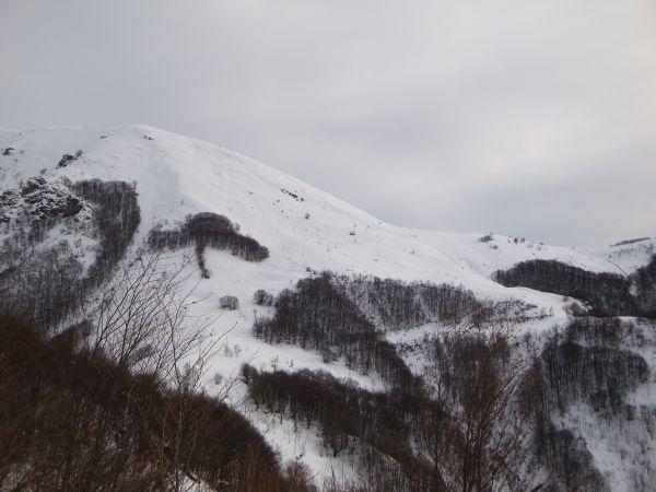 Monte Vecchio e Colle dell'Apriola dalla Croce di Tempie