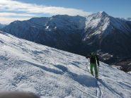 Parte superiore, neve difficile, in salita e in discesa