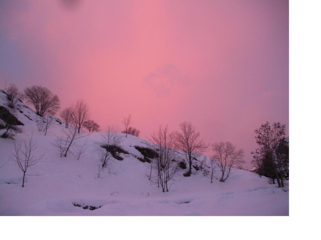 Aurore boreali..in alta Val di Viu'