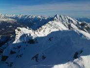 panorama (parziale) dalla vetta, verso il Pizzo Giezza