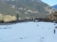 Partenza da Chateau Beaulard 1400m , pochissima neve