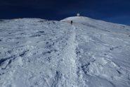 ultimo tratto di crestone prima della cima (5-1-2013)