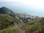 Il borgo di Varigotti, dal sentiero di risalita