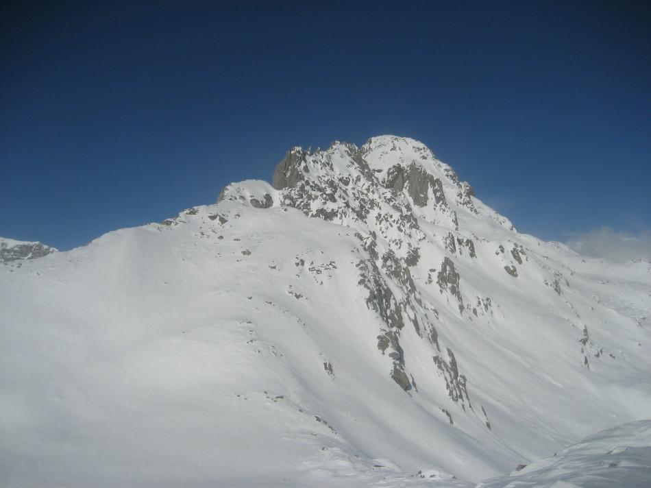 spalla sci alpinistica e Pizzo Ton