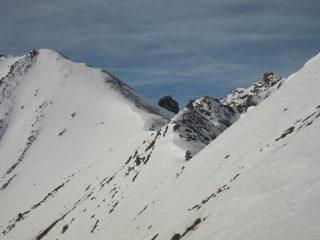 La cresta della cima dell'Adois