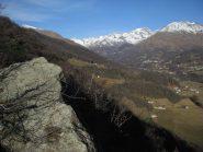 Bec dl'Adja o Aggia e panorama sulla valle