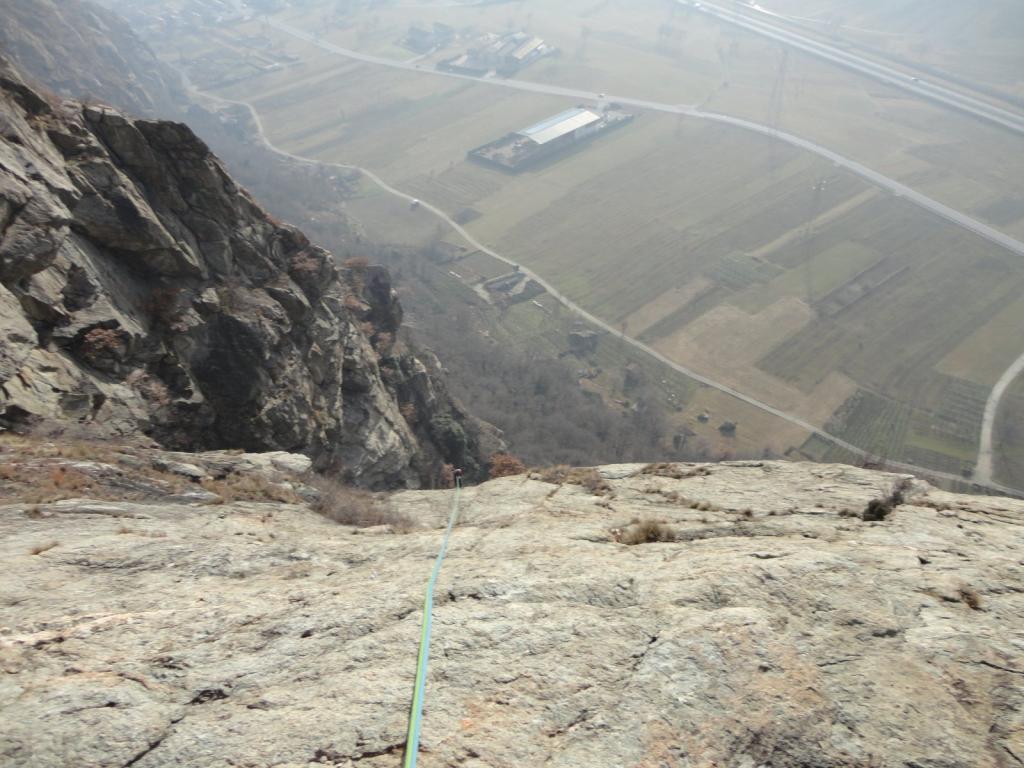 una vista sul fondo valle