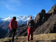 Ammirando le montagne della Val d'Ala