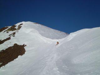 Cornice sulla cresta prima della cima