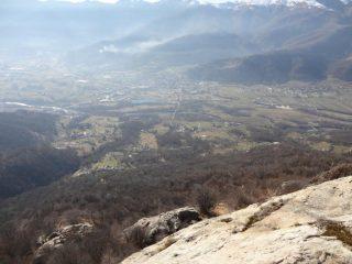 la vista sulla valle.