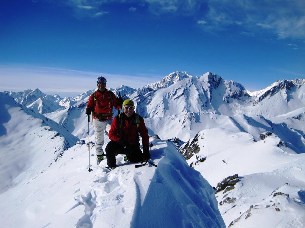 Roberto e Lorenzo in punta con il Bianco alle spalle
