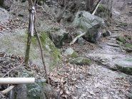 La fonte vicino al bivio per Biolla a metà mulattiera