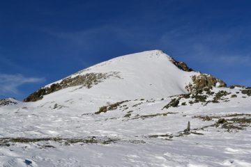 il Mont Iverta visto dalla conca del Lac des Heures