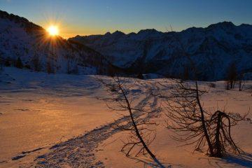 alba salendo al Colle del Lago Bianco