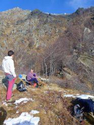 al Rol ,al centro il canale di salita all'alpe Colmetto