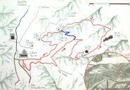 mappa (dal cartello alla Certosa) - in azzurro ho segnato il raccordo per il giro corto