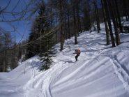 bella neve anche nel bosco...