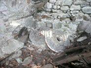 Le macine all'interno del vecchio mulino