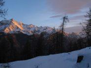 vista del Rocciamelone all'alba