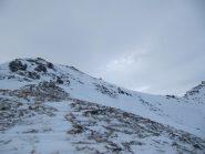 ultimo tratto fatto a piedi in salita lungo la cresta....