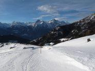 Appena oltrepassati gli alpeggi Veplace
