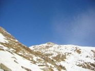 la lunga cresta sud al Tovo e la parte ovest della discesa vista da alpe Trotta