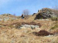 Salendo a monte dell'Alpe Tirovana