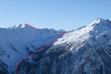 Il percorso nella parte alta   I   Le parcours dans la partie en haut   I   The route in its lower section   I   Die Route im oberen Abschnitt   I   El recorrido en la parte alta