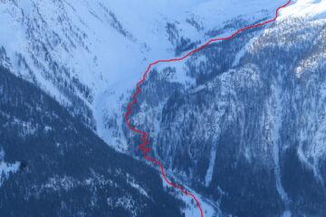 Il percorso nella parte bassa   I   Le parcours dans la partie en bas   I   The route in its top section   I   Die Route im unteren Abschnitt   I   El recorrido en la parte baja