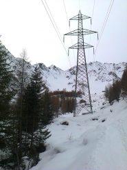 Poco prima dell'Alpe Caronella