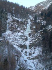 cascata dello skylift vista scendendo a valle