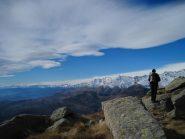 Dalla vetta lo sguardo spazia fino alle mie Valli di Lanzo