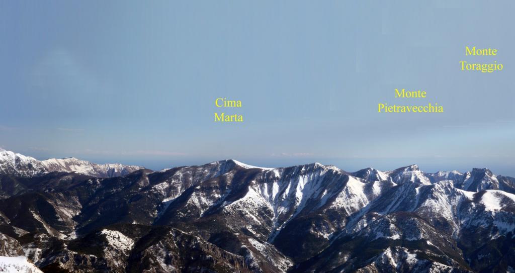 Le Cime Marta, Pietravecchia, Toraggio