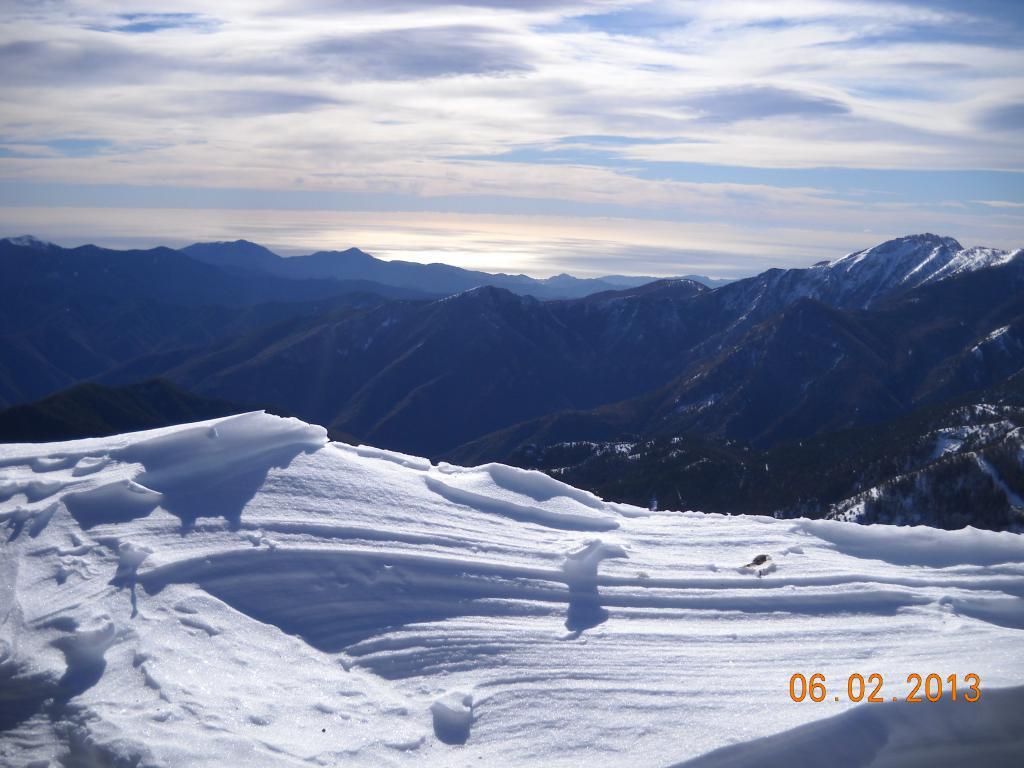 neve e mare dal Redentore