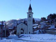 la bella chiesa di Chamois