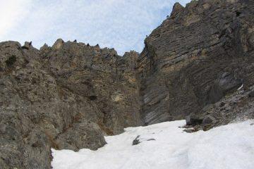 saldo roccioso da superare a sinistra