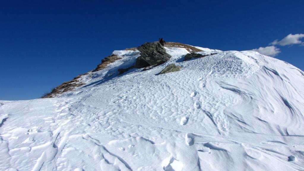 ultimi metri di cresta prima della cima (9-2-2013)