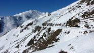 la stradina percorsa e il Monte Gorfi vista dal Gias della Sella (9-2-2013)