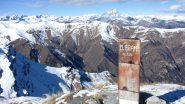 la vetta del Monte Bram e il segnale trigonometrico (9-2-2013)