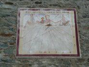 Meridiana su parete ovest del santuario
