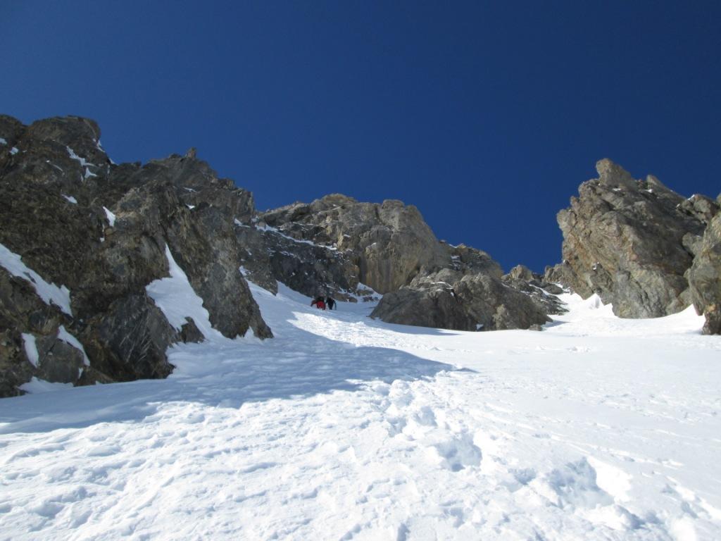 Buc de Nubiera Parete Est - Voie tres Amis 2013-02-16