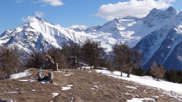 mont Neri e dame di Challand dalla Comagna