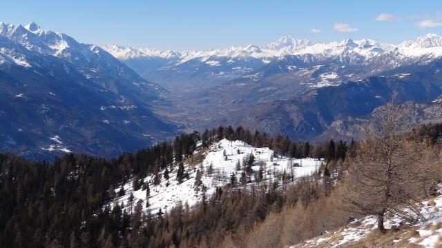 fondovalle VdA Verso nord e il m.Bianco