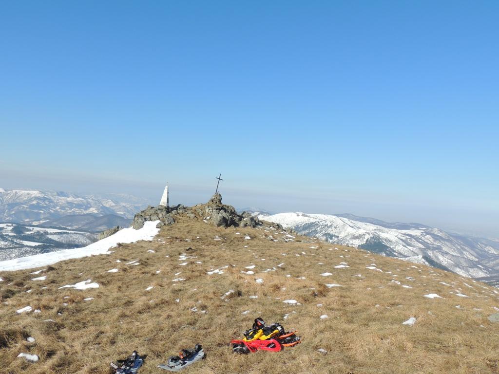 la vetta del monte Poggio (foto un po' storta...)