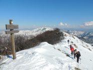 la cima della Costa Lavezzara
