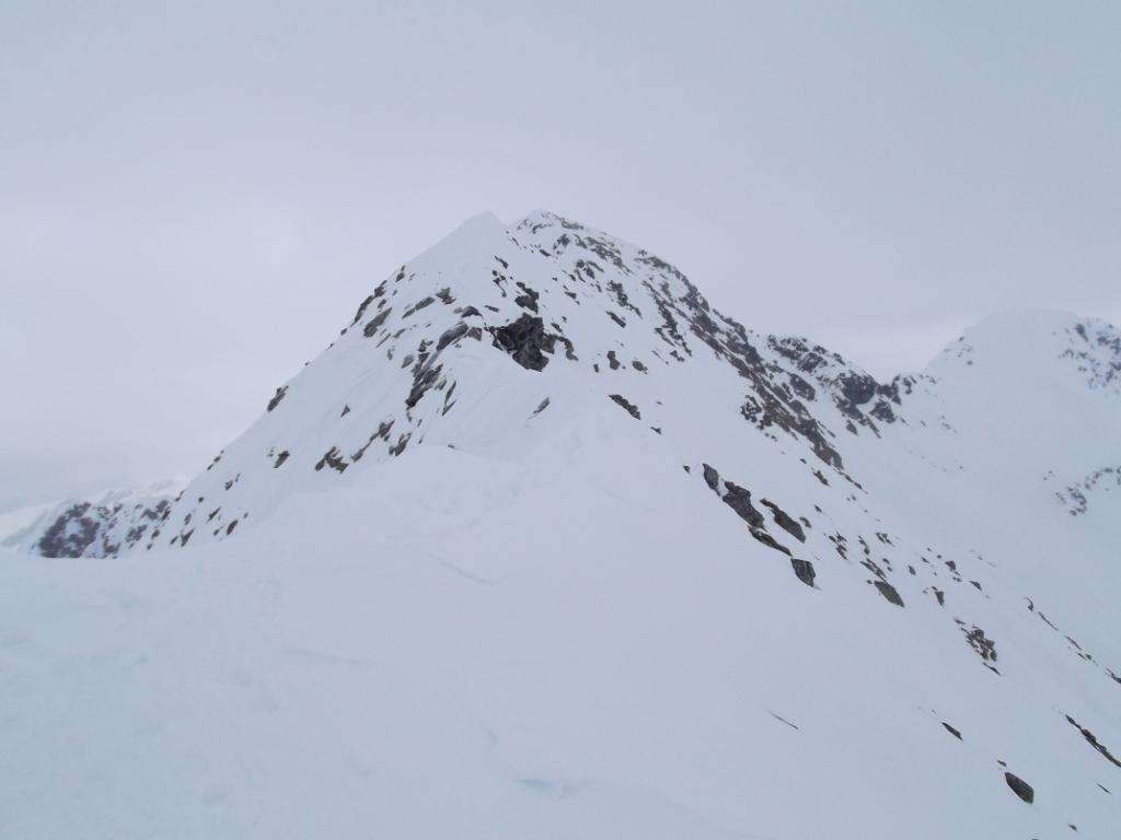 la cresta dall'anticima alla cima del Corno Stella