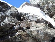 secondo tratto da arrampicare