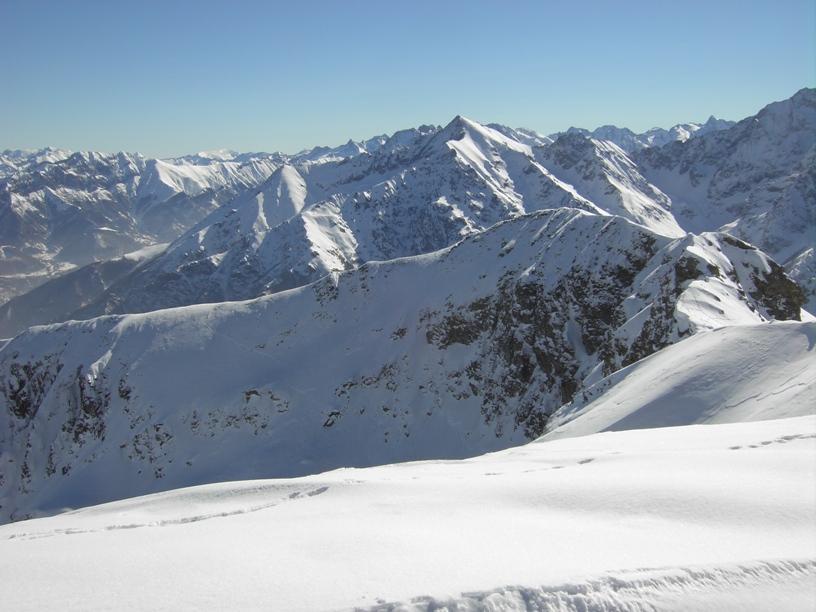 Il percorso degli scialpinisti.