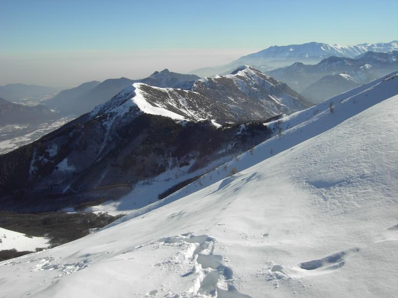 Uscita sull'inizio della cresta NO(di fronte Cialancia e La Piastra)