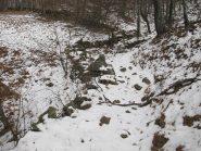 Neve continua sul sentiero da q. 1100